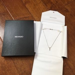 Jewelry - 18K 750 MOVADO ITALY WHITE GOLD DIAMOND NECKLACE❤️